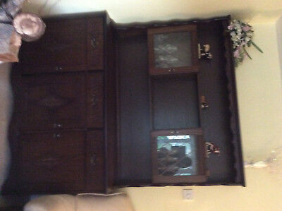 Reproduction oak dresser and cabinet
