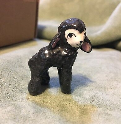 Vintage Early 1940s Hagen Renaker Miniature Black  Lamb Sheep Figurine rare