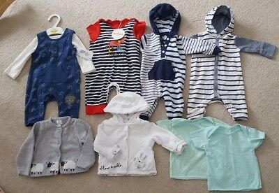 New born and 0-3 months boys clothes bundle