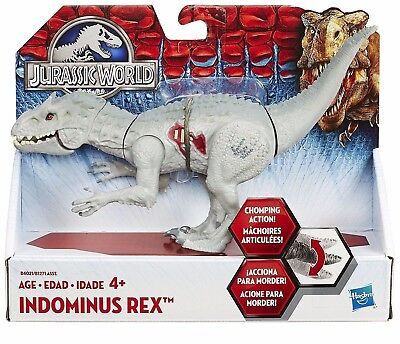 "Jurassic World Dinosaur 8"" Indominus Rex Toy Park Chomping Action NEW BY  HASBRO"