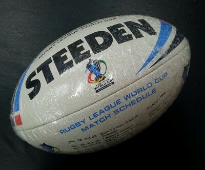 Steeden Rugby League World Cup Australia 2008 Full Size Match Schedule Ball *NEW