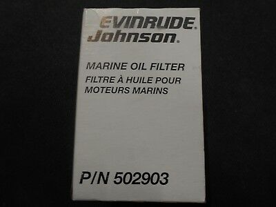 Evinrude  Johnson Oil Filter, 0502903, 502903, Chevy V-6