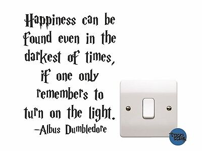 Harry potter Dumbledore Happiness light switch decal, child's wall art sticker