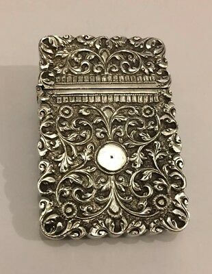 Exquisite Antique Islamic Indian Kutch Silver Card Case