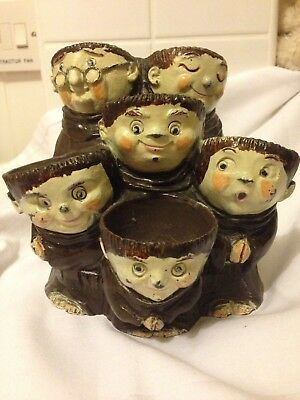 Monks 6 Egg Holder By Weiss Pottery