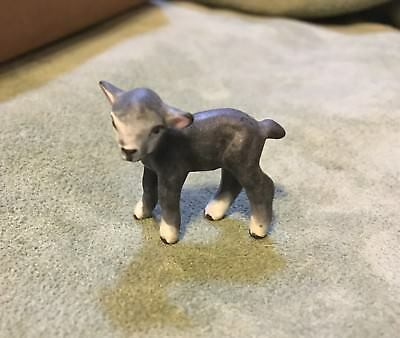 Hagen Renaker rare vintage  MATTE BLACK LAMB---miniature china sheep figurine