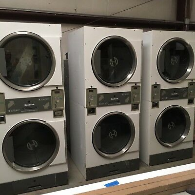 dissembled coin laundry 40  USED HUEBSCH washers & DRYERS, plus, plus, plus plus