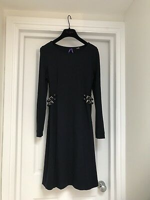 Seraphine Navy Buckle Maternity Dress Size 10 UK
