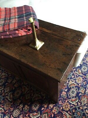 17th Century Joined Oak Coffer of Pegged Construction Chest Blanket Box