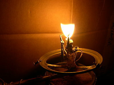 Working Brass Acetylene Gas Lamp Light With Electric Spark Ignition, Open Flame