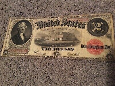 Series of 1917 Red Seal Two Dollar Bill