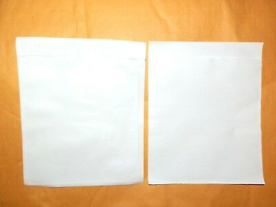 '25' Plain Packing List Envelopes, Clear Poly Pouches