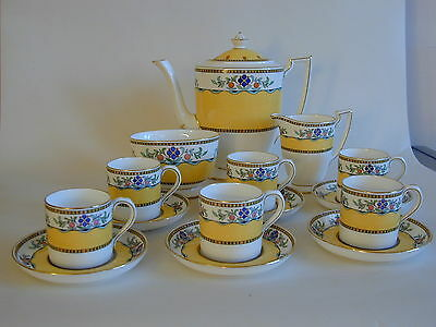 Rare Minton Art Deco enameled and gilded complete coffee set