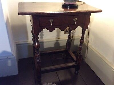 Early 17th Century English Side Table Small Queen Anne Oak Diminutive 1710