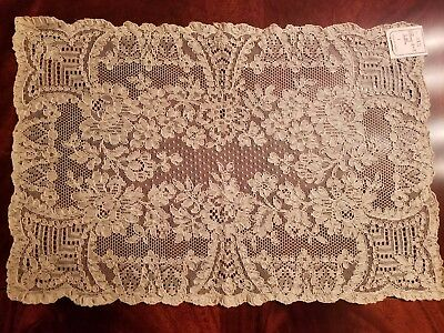 8 French Lace Place mats, a runner, 8 Irish Linen embroidered napkins