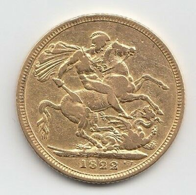 1822 George Iv Sovereign Gold British Coin