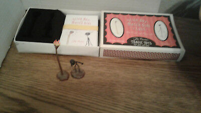 Tim Burton's Stick Boy & Match Girl Note Cards & Figures Set Limited Edition2004