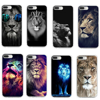 Lion Ultra Slim Rubber Soft Case TPU Silicone Back Cover for iPhone X 7 6 Huawei