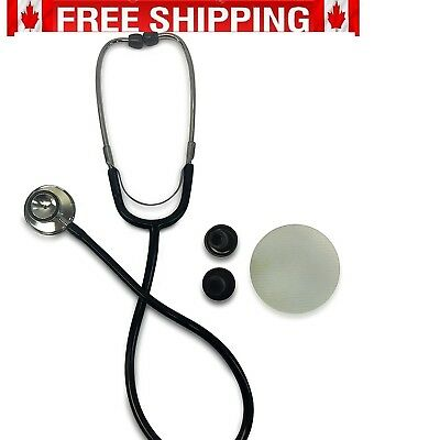 Primacare DS-9290-BK Classic Series Adult Dual Head Stethoscope [Black] NEW