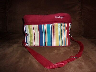 Longaberger Sunny Day Stripe Lunch Tote