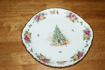 Old Country Roses Christmas Magic Platter with Handles New