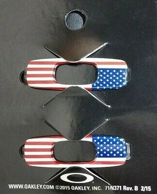 New Oakley Batwolf Sunglasses Replacement Icons Attachments Pair USA Flag