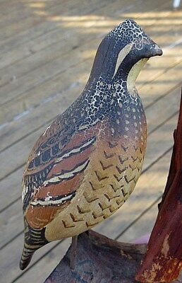VINTAGE ca. 1920 CAPE COD WOOD CARVED MINIATURE BOBWHITE QUAIL DUCK DECOY