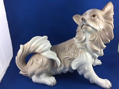 Exquisite Rare Lladro Papillon Dog Retired 1979- #4857  Very Large!