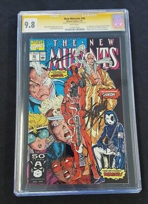 NEW MUTANTS #98 1st Appearance Deadpool Signed x2 Liefeld Stan Lee CGC SS 9.8