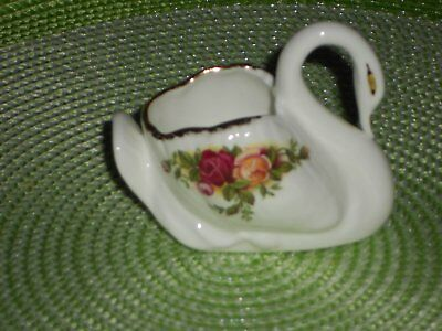 Royal Albert Old Country Roses Swan RARE undermarked  mint