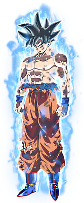 Sticker Autocollant Poster A4 Dragon Ball Z Super Sangoku Ultra Instinct