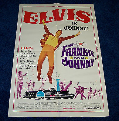 PRICE DROP! Elvis Presley Frankie & Johnny Original One Sheet Movie Poster 1966