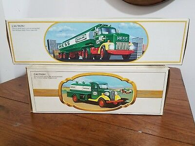1984 hess fuel oil tanker toy truck bank end hess first truck in original box...