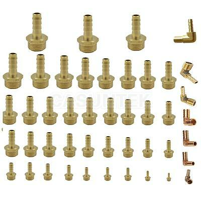 Elbow/Straight BSP to Brass Male Barb Hose Tail Pipe Gas Coupler Connector