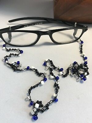Eyeglass Chains & Holders bb34 Jewelry & Watches Clear Brown Seed Beads Eyeglass Chain Holder Crocheted Black Necklace