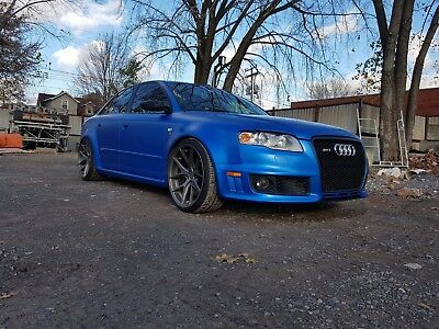 Audi: RS4 Wrapped in 3M Satin Perfect Blue 2008 Audi RS4 Sedan - Unique !