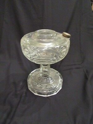 Vintage  Aladdin Washington Drape Clear Lamp Base