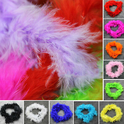 2 M Various Colours Marabou Feather Boa For Fancy Dress Party Burlesque Boas GT