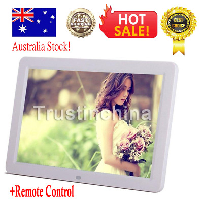 """17"""" HD 1080P LED Digital Photo Picture Frame Movie Player Remote Control White"""