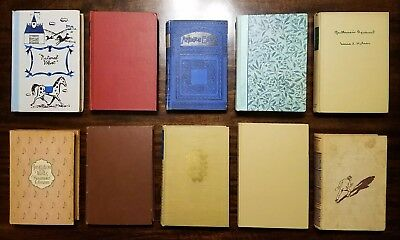 Lot of 10-Vintage Late 1800s-Early 1900s Rare Antique Literature Hardback Books