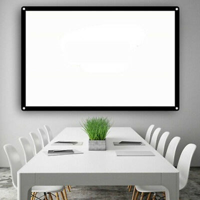 Home Theater Courtyard Projector Curtain Projection Screen Durable 84inch