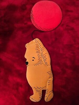 Classic Pooh fabric wall hanging for baby's nursery or child's room