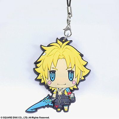 Square Enix Trading Rubber Strap 3 Cellphone Clasp Final Fantasy X 10 Tidus NEW
