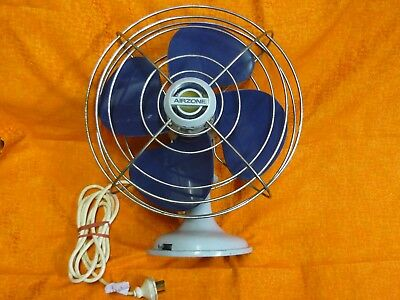 Vintage Retro Blue AirZone Osolating Electric fan