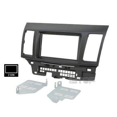 *factory Seconds* Mitsubishi Lancer Cj 2007-2013 Double-Din Facia Fascia Kit