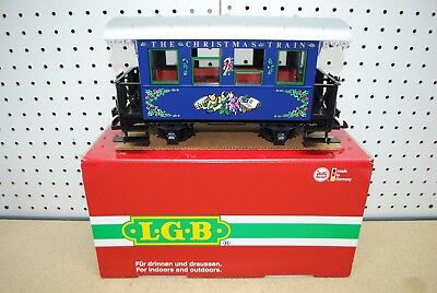 LGB (72545) The Christmas Train Blue Passenger Car *G-Scale* NEW