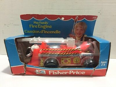 Vintage Fisher Price Fire Engine In box