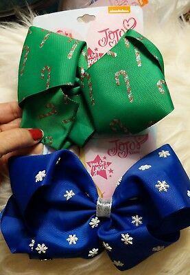 Jojo Siwa Signature Large New Christmas Bows! Lot of 2
