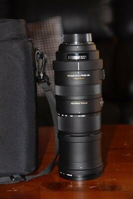 Sigma DG 150-500mm f/5.0-6.3 APO HSM Lens for Nikon with UV filter and bag