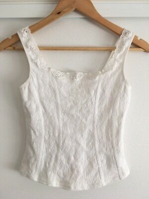 Arianne Top Corset Lingerie Size S White Floral